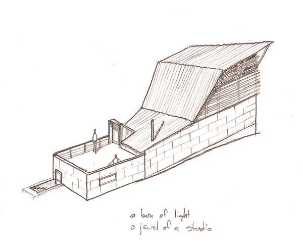 Hawkins studio sketch