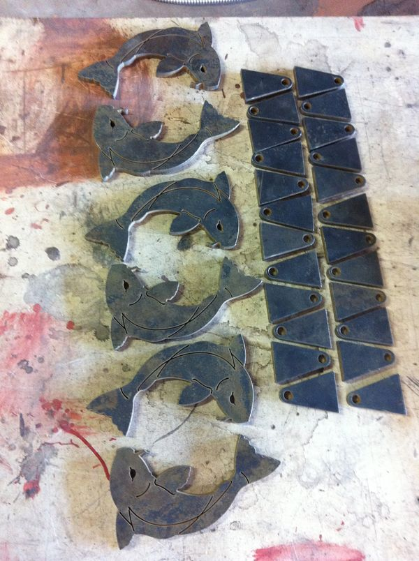 Waterjet pieces