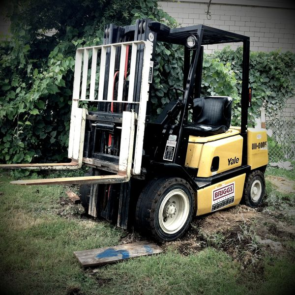 the first forklift stuck