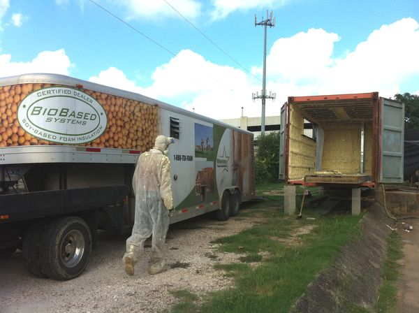 foam insulation, shipping container, food trailer
